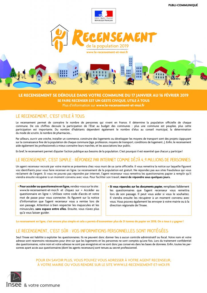 Recensement à Seignosse 2019 PublicommuniquePCMAG2019 print