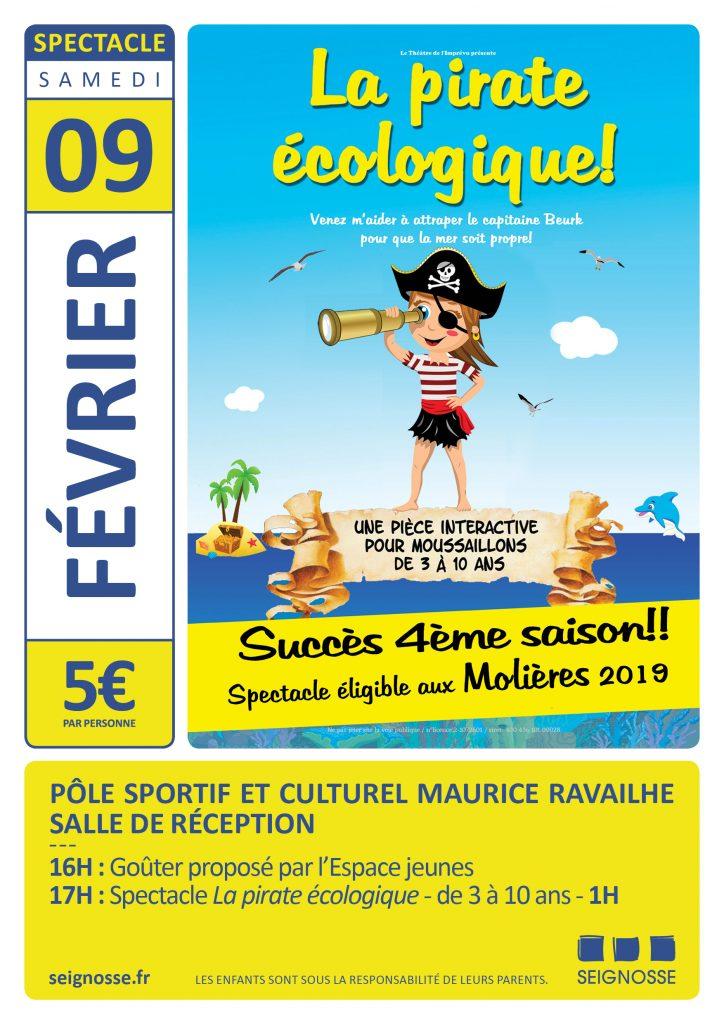 la pirate écologique à seignosse Spectacle : La pirate écologique affiche evenement fevrier