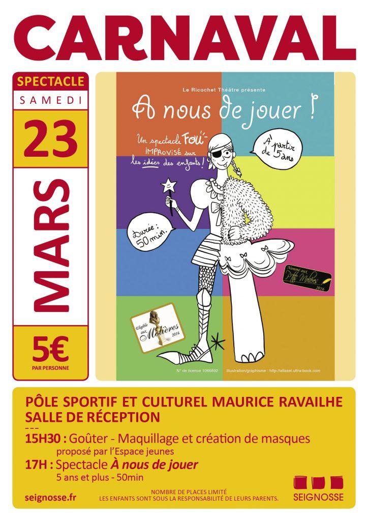 Carnaval : A nous de jouer ! affiche evenement mars