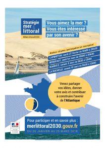 Ateliers citoyens - Stratégie mer et littoral affiche strategie mer littoral