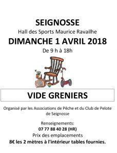Vide Greniers - Hall des Sports Maurice Ravailhe affiche vide grenier