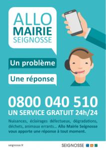 Allo Mairie Seignosse - Service gratuit 24/24 allo mairie seignosse service gratuit Allo Mairie Seignosse allo mairie seignosse affiche