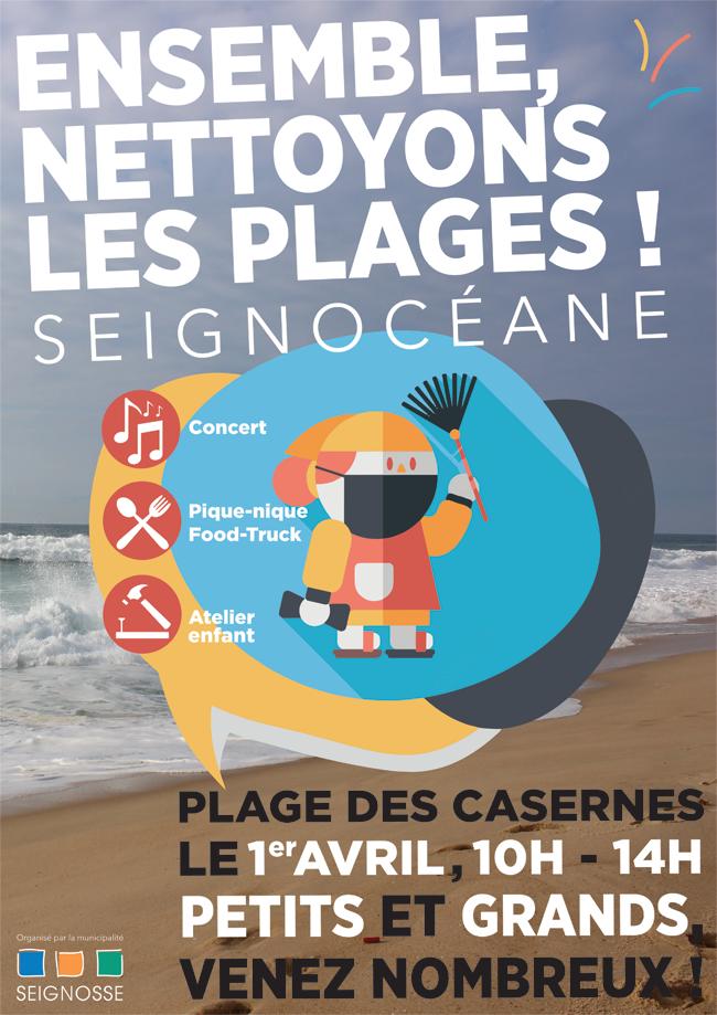 Carnaval de Seignosse  Seignocéane, plage des casernes seignocean aff