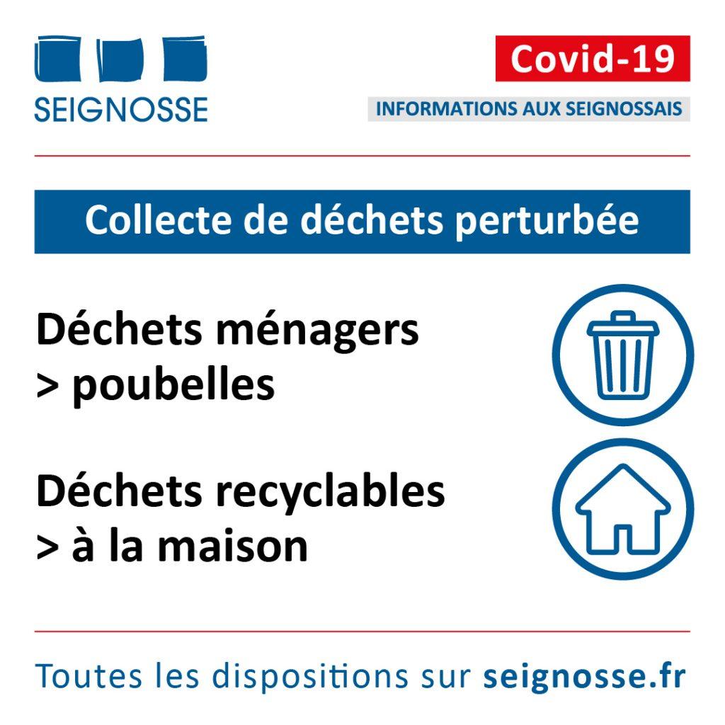 Covid-19 les déchets seignosse dechets