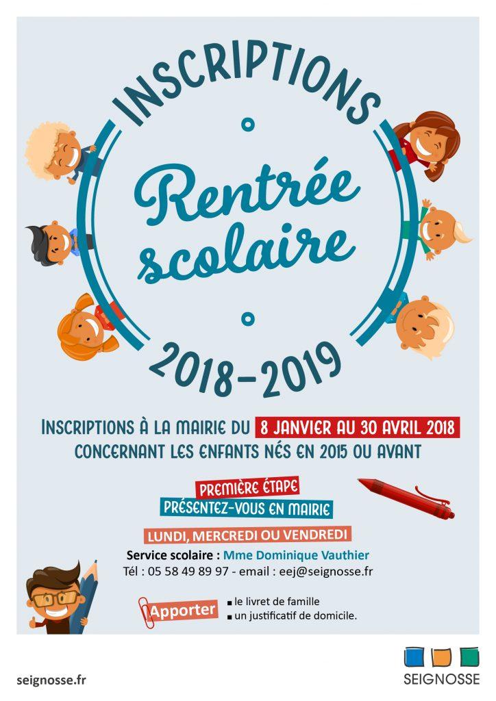 Inscriptions scolaires 2018/2019 inscriptions scolaires2018 2019