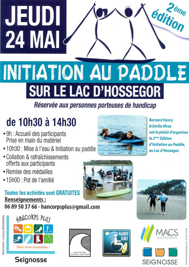 Initiation paddle avec l'association Hancorps Plus initiation paddle
