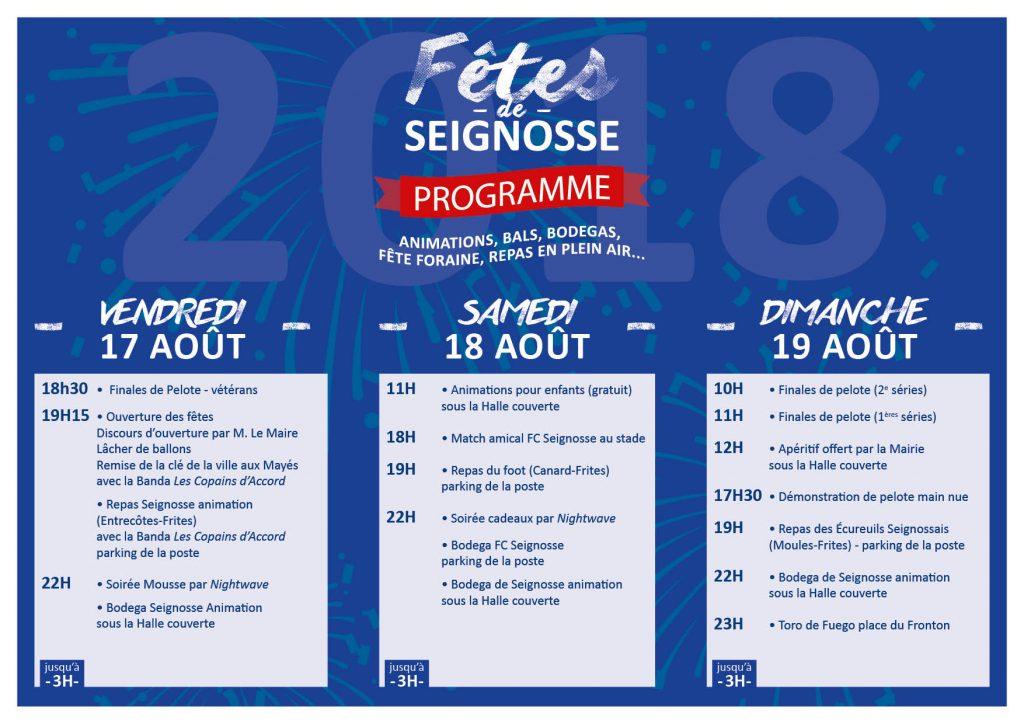 fêtes de seignosse 2018 Fêtes de Seignosse 2018 programme fetes seignosse2018