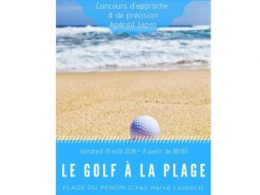 Le golf à la plage
