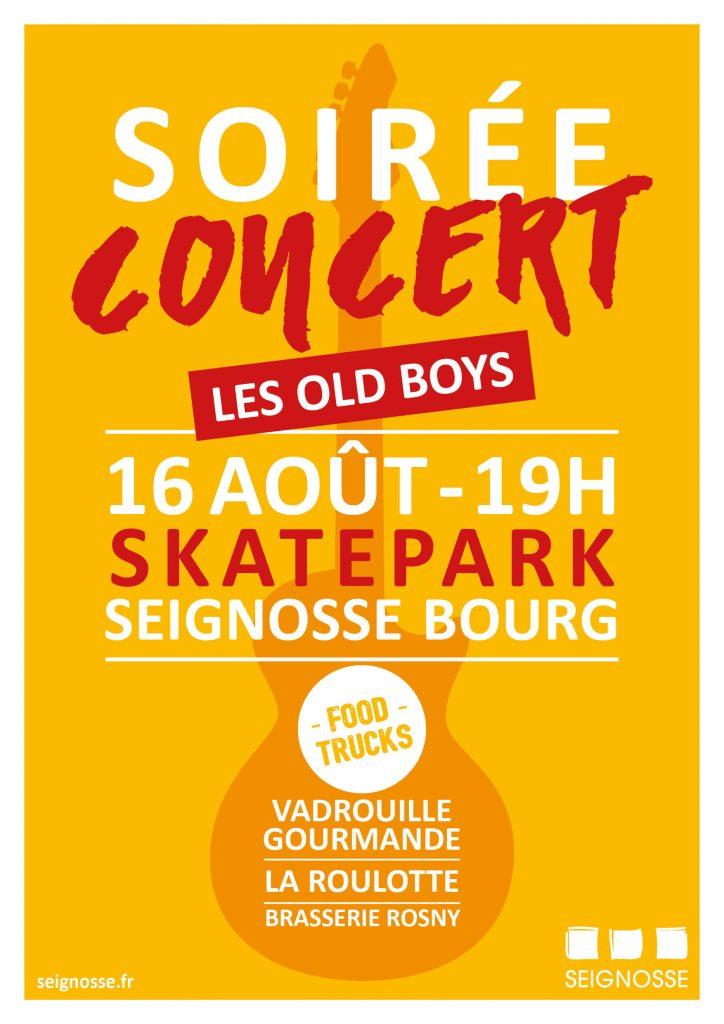 Soirée au skatepark à Seignosse soiree concert skatepark ete2