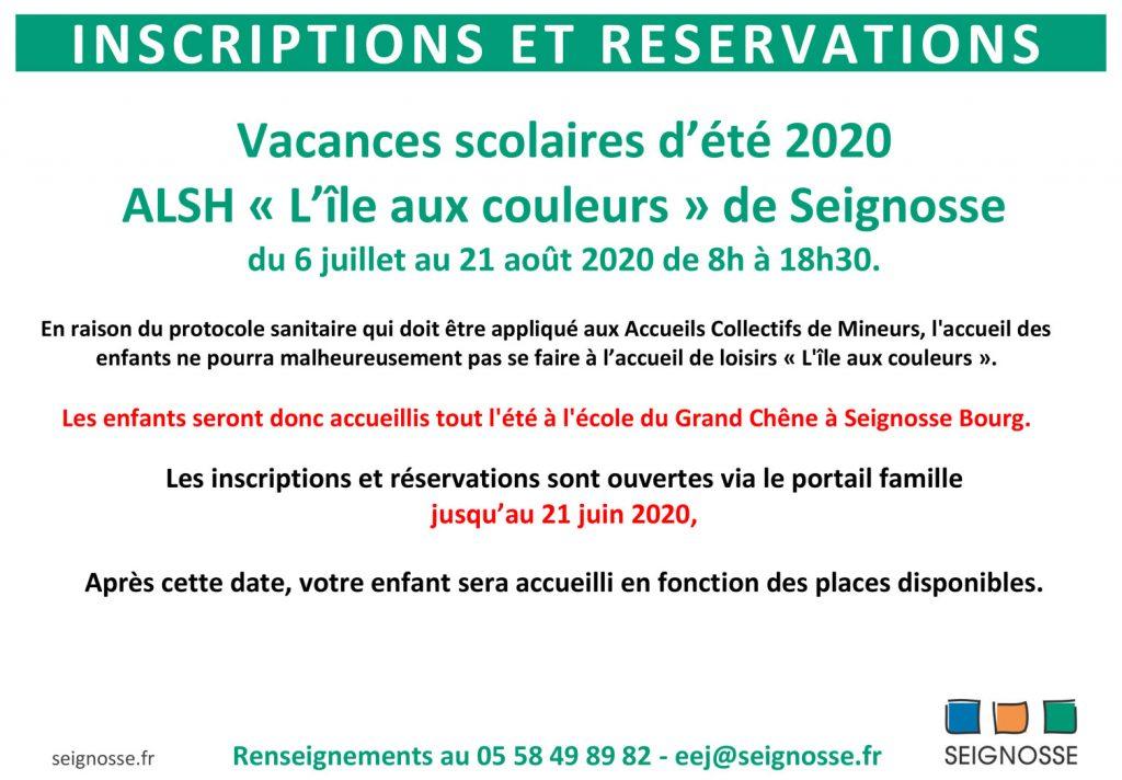 inscriptions vacances île aux couleurs Inscriptions accueil de loisirs - vacances d'été 2020 inscription ete 2020 copie